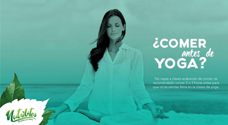 ¿Comer antes del Yoga?